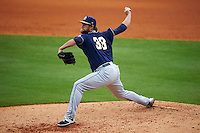 San Antonio Missions pitcher Aaron Northcraft (33) delivers a pitch during a game against the NW Arkansas Naturals on May 31, 2015 at Arvest Ballpark in Springdale, Arkansas.  NW Arkansas defeated San Antonio 3-1.  (Mike Janes/Four Seam Images)