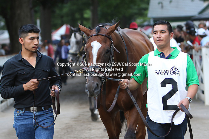 August 15 2015: Grand Arch with Luis Saez win the Grade II Fourstardave Handicap for 3-year olds & up, going 1 mile on the inner turf at Saratoga Racetrack.  Trainer Brian Lynch. Owner Jim & Susan Hill . Sue Kawczynski/ESW/CSM