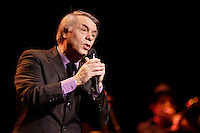 Montreal (QC) CANADA,Nov 8 2009-  French singer Salvatore Adamo perform at Montreal's Place-des-Arts.<br /> .