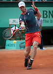 Andy Murray (GBR) wins at Roland Garros in Paris, France on May 31, 2012