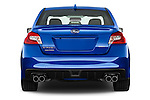 Straight rear view of 2017 Subaru WRX 2 4 Door Sedan Rear View  stock images