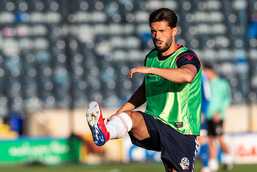 Bolton Wanderers' Jason Lowe warming up before the match <br /> <br /> Photographer Andrew Kearns/CameraSport<br /> <br /> The Carabao Cup First Round - Rochdale v Bolton Wanderers - Tuesday 13th August 2019 - Spotland Stadium - Rochdale<br />  <br /> World Copyright © 2019 CameraSport. All rights reserved. 43 Linden Ave. Countesthorpe. Leicester. England. LE8 5PG - Tel: +44 (0) 116 277 4147 - admin@camerasport.com - www.camerasport.com