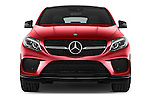 Car photography straight front view of a 2018 Mercedes Benz GLE-Class 350 5 Door SUV Front View