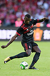 AC Milan Forward MBaye Niang in action during the 2017 International Champions Cup China match between FC Bayern and AC Milan at Universiade Sports Centre Stadium on July 22, 2017 in Shenzhen, China. Photo by Marcio Rodrigo Machado/Power Sport Images