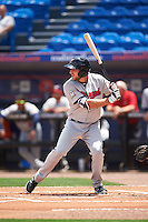 Brevard County Manatees first baseman Dustin DeMuth (4) at bat during a game against the St. Lucie Mets on April 17, 2016 at Tradition Field in Port St. Lucie, Florida.  Brevard County defeated St. Lucie 13-0.  (Mike Janes/Four Seam Images)