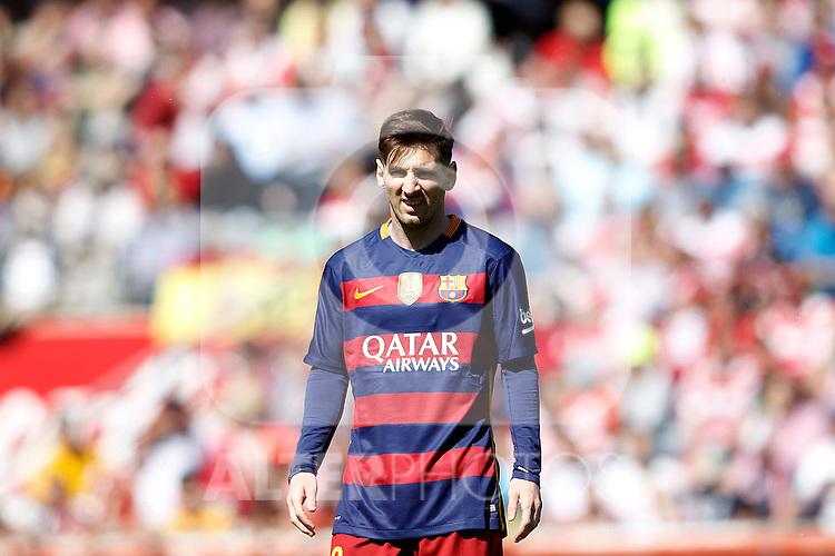 FC Barcelona's Leo Messi during La Liga match. May 14,2016. (ALTERPHOTOS/Acero)