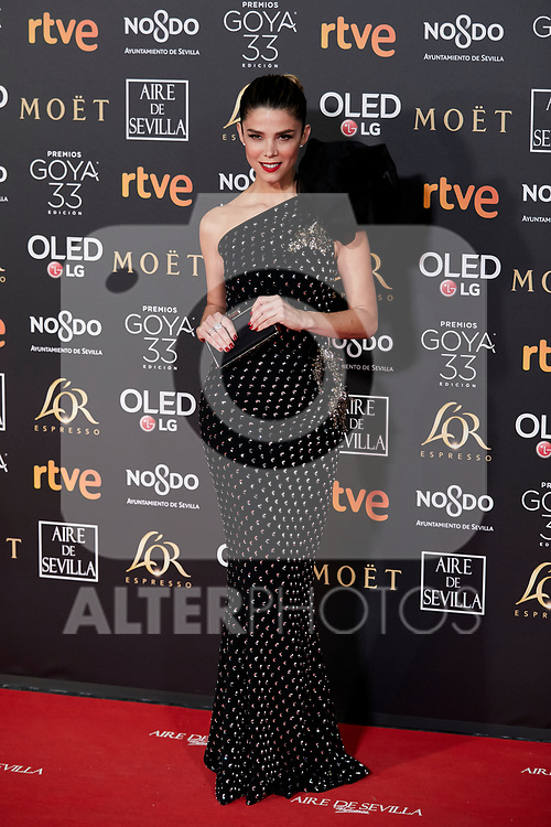Juana Acosta attends to 33rd Goya Awards at Fibes - Conference and Exhibition  in Seville, Spain. February 02, 2019. (ALTERPHOTOS/A. Perez Meca)