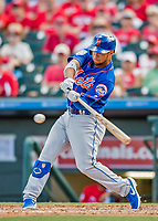 28 February 2019: New York Mets outfielder Gregor Blanco at bat during a Spring Training game against the St. Louis Cardinals at Roger Dean Stadium in Jupiter, Florida. The Mets defeated the Cardinals 3-2 in Grapefruit League play. Mandatory Credit: Ed Wolfstein Photo *** RAW (NEF) Image File Available ***