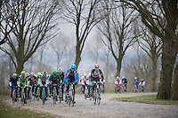 Gent-Wevelgem 2013.moving up the Casselberg cobbles (France).