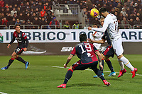Nikola Kalinic of AS Roma scores the goal of 1-1 <br /> Cagliari 01/03/2020 Sardegna Arena <br /> Football Serie A 2019/2020 <br /> Cagliari Calcio - AS Roma    <br /> Photo Gino Mancini / Insidefoto