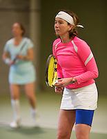 March 7, 2015, Netherlands, Hilversum, Tulip Tennis Center, NOVK, Mireille Bink with her doubles partner Debby Haak (NED) (L)<br /> Photo: Tennisimages/Henk Koster