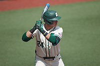 David McCabe (24) of the Charlotte 49ers at bat against the Old Dominion Monarchs at Hayes Stadium on April 25, 2021 in Charlotte, North Carolina. (Brian Westerholt/Four Seam Images)