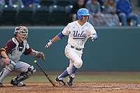 Chris Keck #25 of the UCLA Bruins bats against the Arizona State Sun Devils at Jackie Robinson Stadium on March 28, 2014 in Los Angeles, California. UCLA defeated Arizona State 7-3. (Larry Goren/Four Seam Images)