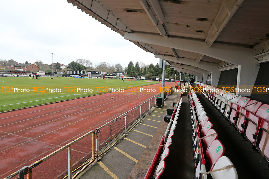 General view of the ground during Hornchurch vs Maidstone United, Buildbase FA Trophy Football at Hornchurch Stadium on 6th February 2021