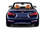 Straight rear view of a 2018 BMW M4 Base 2 Door Convertible stock images