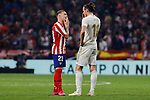 Kieran Trippier of Atletico de Madrid and Gareth Bale of Real Madrid during La Liga match between Atletico de Madrid and Real Madrid at Wanda Metropolitano Stadium in Madrid, Spain. September 28, 2019. (ALTERPHOTOS/A. Perez Meca)