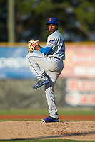 Kingsport Mets starting pitcher Willy Taveras (27) in action against the Burlington Royals at Burlington Athletic Stadium on July 27, 2018 in Burlington, North Carolina. The Mets defeated the Royals 8-0.  (Brian Westerholt/Four Seam Images)