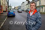 Stewart Stevens standing in Milltown on Saturday morning