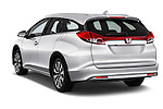 Car pictures of rear three quarter view of 2016 Honda Civic Tourer Executive 5 Door Wagon Angular Rear