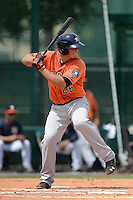 Houston Astros catcher Jacob Nottingham (26) during an Instructional League game against the Atlanta Braves on September 22, 2014 at the ESPN Wide World of Sports Complex in Kissimmee, Florida.  (Mike Janes/Four Seam Images)