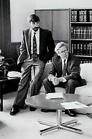 1990 FILE PHOTO - ARCHIVES -<br /> <br /> Right-Hand Man: David Agnew and Premier Bob Rae are long-time allies and friends.<br /> <br /> 1990<br /> <br /> PHOTO :  Erin Comb - Toronto Star Archives - AQP