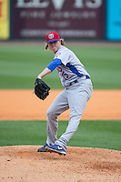 Tennessee Smokies relief pitcher Zach Cates (15) in action against the Birmingham Barons at Regions Field on May 4, 2015 in Birmingham, Alabama.  The Barons defeated the Smokies 4-3 in 13 innings. (Brian Westerholt/Four Seam Images)