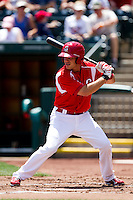 Eric Duncan (15) of the Springfield Cardinals at bat during a game against the San Antonio Missions on May 30, 2011 at Hammons Field in Springfield, Missouri.  Photo By David Welker/Four Seam Images