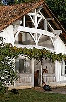 Europe/France/Aquitaine/40/Landes/Europe/France/Aquitaine/40/Landes/Parc Naturel Régional des Landes de Gascogne/Marquèze (écomusée de la Grande Lande) /Sabres: La maison du propriétaire et dindons