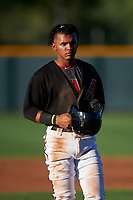 AZL D-backs Jose Curpa (3) between innings of an Arizona League game against the AZL Angels on July 20, 2019 at Salt River Fields at Talking Stick in Scottsdale, Arizona. The AZL Angels defeated the AZL D-backs 11-4. (Zachary Lucy/Four Seam Images)