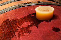 silicone bung on barrel domaine gachot-monot nuits-st-georges cote de nuits burgundy france