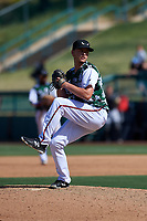 Lake Elsinore Storm relief pitcher Evan Miller (15) during a California League game against the Inland Empire 66ers on April 14, 2019 at The Diamond in Lake Elsinore, California. Lake Elsinore defeated Inland Empire 5-3. (Zachary Lucy/Four Seam Images)