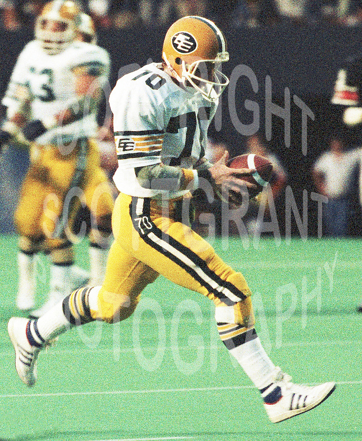 Brian Kelly Edmonton Eskimos 1985. Copyright photograph Scott Grant/