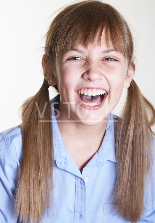 Girl laughing, portrait