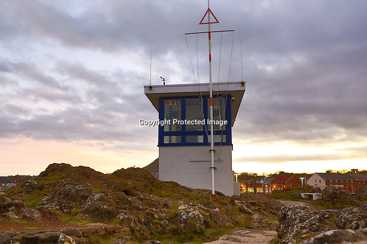 Coast Guard lookout, North Berwick, East Lothian.<br /> <br /> Image: Malcolm McCurrach | New Wave Images UK