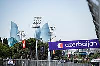 3rd June 2021; Baku, Azerbaijan;  The course during the Formula 1 Azerbaijan Grand Prix 2021 at the Baku City Circuit, in Baku, Azerbaijan