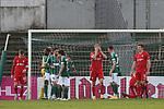 22.11.2020, Dietmar-Scholze-Stadion an der Lohmuehle, Luebeck, GER, 3. Liga, VfB Luebeck vs FC Bayern Muenchen II <br /> <br /> im Bild / picture shows <br /> Fiete Arp (FC Bayern Muenchen II) vergraebt sein Gesicht, ist enttäuscht/enttaeuscht<br /> <br /> DFB REGULATIONS PROHIBIT ANY USE OF PHOTOGRAPHS AS IMAGE SEQUENCES AND/OR QUASI-VIDEO.<br /> <br /> Foto © nordphoto / Tauchnitz