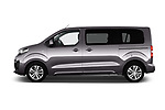 Car Driver side profile view of a 2017 Peugeot Traveller Allure 4 Door Passenger Van Side View