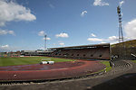 Edinburgh City v Spartans, 11/04/2015. Commonwealth Stadium, Scottish Lowland League. The Commonwealth Stadium at Meadowbank before the Scottish Lowland League match between Edinburgh City and city rivals Spartans, which was won by the hosts by 2-0. Edinburgh City were the 2014-15 league champions and progressed to a play-off to decide whether there would be a club promoted to the Scottish League for the first time in its history. The Commonwealth Stadium hosted Scottish League matches between 1974-95 when Meadowbank Thistle played there. Photo by Colin McPherson.