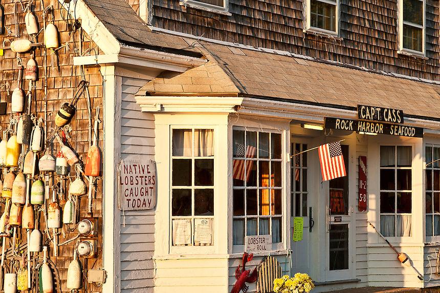 Captain Cass seafood restaurant, Rock Harbor, Cape Cod, MA,