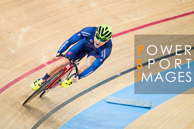 Chau Dor Ming Domino of Team Champion System-CSR in action during the Open Qualifying (200M Flying Start) at the Hong Kong Track Cycling Race 2017 Series 5 on 18 February 2017 at the Hong Kong Velodrome in Hong Kong, China. Photo by Marcio Rodrigo Machado / Power Sport Images