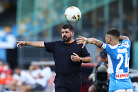 Gennaro Gattuso coach of Napoli and Lorenzo Insigne <br /> during the Serie A football match between SSC  Napoli and SPAL at stadio San Paolo in Naples ( Italy ), June 28th, 2020. Play resumes behind closed doors following the outbreak of the coronavirus disease. <br /> Photo Cesare Purini / Insidefoto