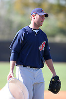 Cleveland Indians minor leaguer Joe Ness during Spring Training at the Chain of Lakes Complex on March 17, 2007 in Winter Haven, Florida.  (Mike Janes/Four Seam Images)