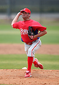 March 25, 2010:  Pitcher Pat Overholt (26) of the Philadelphia Phillies organization during a Spring Training game at the Carpenter Complex in Clearwater, FL.  Photo By Mike Janes/Four Seam Images