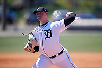 Detroit Tigers Mitchell Stalsberg (72) during a Minor League Spring Training game against the Atlanta Braves on March 22, 2018 at the TigerTown Complex in Lakeland, Florida.  (Mike Janes/Four Seam Images)