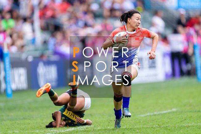 HSBC Hong Kong Rugby Sevens 2018 China vs South Africa on 06 April 2018, in Hong Kong. Photo by Marcio Rodrigo Machado / Power Sport Images