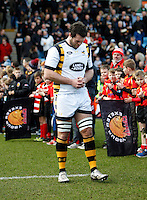 Photo: Richard Lane/Richard Lane Photography. Exeter Chiefs v Wasps. Anglo-Welsh Cup. 28/01/2017. Wasps' Alex Rieder.
