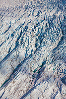 Crevasses on the Sheridan glacier that flows out of the Chugach mountains in southcentral, Alaska.