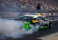 Sep 18, 2015; Concord, NC, USA; NHRA pro stock driver Alex Laughlin during qualifying for the Carolina Nationals at zMax Dragway. Mandatory Credit: Mark J. Rebilas-USA TODAY Sports