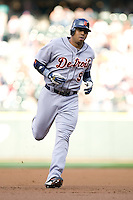 July 5, 2008: The Detroit Tigers' Carlos Guillen rounds the bases after connecting for a solo home run off Seattle Mariners knuckleballer R.A. Dickey.