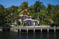 Luxury Waterfront Home, Fort Lauderdale, Florida, FL, America, USA.